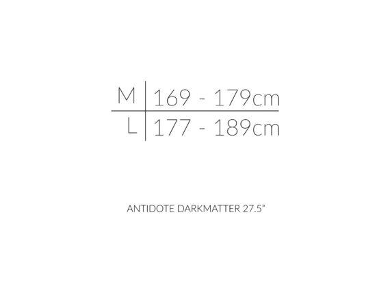 ANTIDOTE DARKMATTER 27.5 størrelsesoversikt